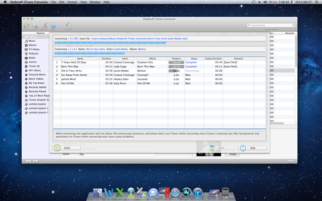 Mac iTunes Converter Screenshot